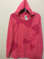 NWT WOMENS UNDER ARMOUR 1277810 -641 FAVORITE FRENCH TERRY POPOVER HOODIE $65