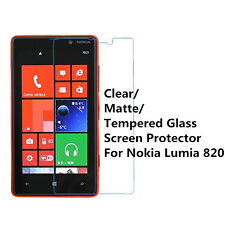 New Clear/ Matte/ Tempered Glass Screen Protector Film Guard For Nokia Lumia 820
