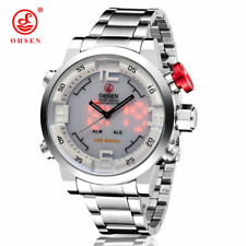 Men's Business Luxury OHSEN Date LED Display Sport Waterproof Quartz Wrist Watch
