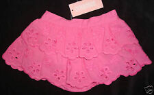 Gymboree NWT Berry Sweet Pink Eyelet Scallop Skort Skirt 12-18 18-24 $27