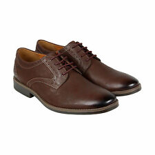 Clarks Garren Plain Mens Brown Leather Casual Dress Lace Up Oxfords Shoes