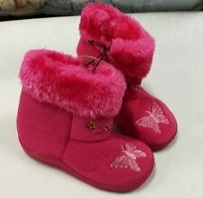 NWT CHATTIES INFANT / TODDLER PINK GIRLS BOOTS SIZES 9/10