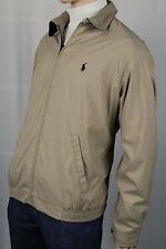 Polo Ralph Lauren Tan Jacket Coat Navy Blue Pony NWT $145