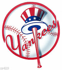 "4.5-5"" NEW YORK YANKEES LOGO WALL SAFE STICKER CHARACTER BORDER CUT OUT"