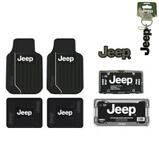 New Jeep Elite Car Truck Front Back Floor Mat / License Plate Frame / Seat Cover