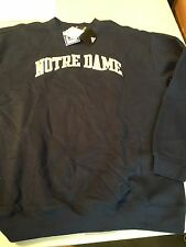 NOTRE DAME ADIDAS EMBROIDERED COLLEGE NCAA  SWEATSHIRT NAVY FREE SHIPPING