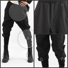Free shipping Mens zip stylish punk harem pants buckle cropped trousers bootcut