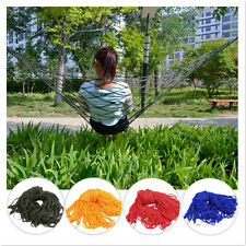New Portable Cotton Rope Outdoor Swing Fabric Camping Hanging Hammock Canvas Bed