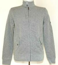 BEN SHERMAN SWEATER WITH ZIP MD10915 XS SM L GREY ZIP THROUGH SWEATER