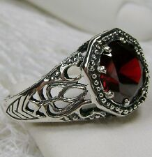 2ct *Red Garnet* Sterling Silver Victorian Filigree Ring Size: {Made to Order}
