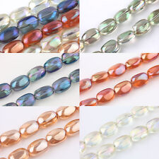 5/10X Olive Czech Crystal Glass Loose Spacer Bead Charm Finding Craft 10x5mm DIY