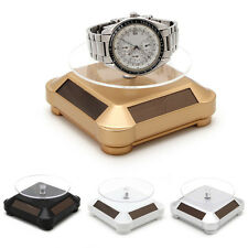 Solar Power 360 Rotating Display Stand Turn Table Plate For Jewelry Watch Phone