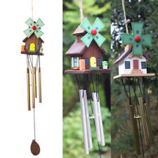 Hanging 15 Tubes Wooden Wind Chime Lucky Bell Home Outdoor Garden Yard Decor