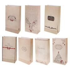 30 Merry Christmas Paper Party Sweets Candy Food Gift Bags Xmas Gift Carrier Bag