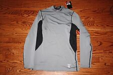 Nike Men's Dri Fit Pro Combat Hyperwarm Fitted Mock Shirt 479925 065 Size SMALL