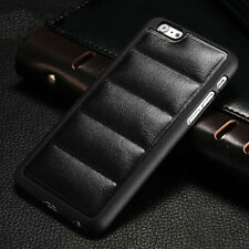 New Luxury Soft Leather Plastic Bumper Back Case Cover For iPhone 4S/5S/6/6 Plus