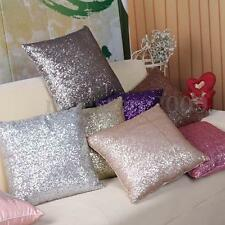 """Solid Glitter Sequins Throw Pillow Case Cafe Home Decor Cushion Cover 16""""x16"""""""