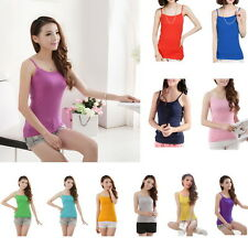 Women Ladies Slim Fit Strappy Vest Tank Tops Sleeveless Camisole Tees