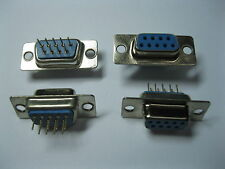 10 pcs D-Sub 9 Pin Female PCB Connector for PC Use DIP