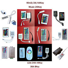 3/8/24/44 KEY Double Lines Music WIFI  IR Remote Controller For RGB LED Strip