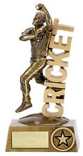 """CRICKET BOWLER Trophy 5.25"""" / 7.25"""" FREE ENGRAVING Personalised 3D Award NEW"""
