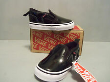 Vans Toddler Asher V Skate Shoes Black Hook and Loop sizes NEW IN BOX!! Cute!!!!