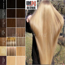 "16""-22"" One Piece Clip In Real Remy Human Hair Extensions 3/4 Full Head US U648"