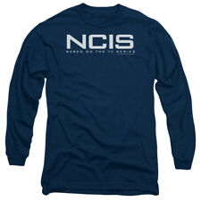 NCIS CBS TV Show Logo Black Adult Long Sleeve T-Shirt Tee
