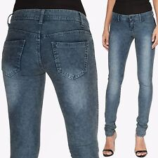 TheMogan Fade Medium Washed Low Rise Stretch Ankle Skinny Jeans