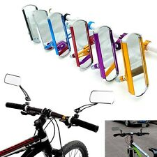 Pair Aluminum Bike Mirror Mountain Bicycle Rearview Handlebar End Rear Back View