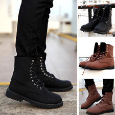 Men PU Leather Martin Boots Motorcycle Ankle Boots High Top Shoes New Size C