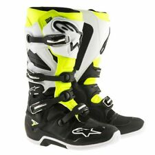 Alpinestars TECH 7 Off-Road MX CE Certified Boots - Black/White/Yellow Size 5-16