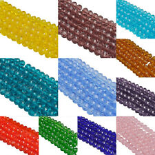 4/6/8mm Czech Colorful Crystal Rondelle Bicone Crystal Glass Spacer Loose Beads