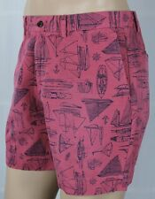 """Polo Ralph Lauren Red Classic Fit 6"""" Chino Shorts Nautical Boats NWT"""