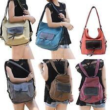 Women Canvas Handbag Large Casual Shoulder Messenger Bag Tote Lady Satchel U4I7