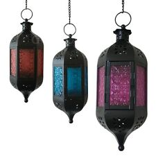 Moroccan Garden Candle Light Holder Table Hanging Lantern Glass Lamp Indoor