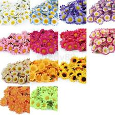 100pcs Gerbera Daisy Heads Artificial Silk Flowers Wedding Party Home Decor