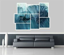 Huge Collage View Fantasy Sea Creature & Whale Wall Stickers Mural 968
