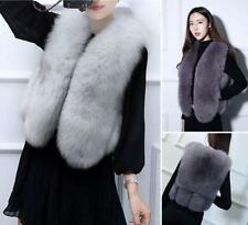Waistcoat Real Genuine Whole Fox Fur Vest Gilet Jacket Women's Warm Garment YT @