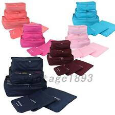 6Pcs Practical Clothes Storage Bags Travel Luggage Packing Cube Organizer Pouch