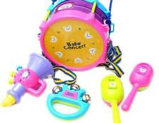 Hot 10pcs Kids Baby Roll Drum Musical Instruments Band Kit Children Toy Gift Set