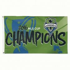 MLS Seattle Sounders FC Wincraft 2016 Cup Champs 3' x 5' Deluxe Flag w/ Grommets