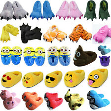 New Soft Plush Stuffed Slippers Warm Indoor Home Shoes Cartoon Costume Xmas Gift