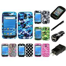 For Samsung Hercules T989 Hybrid TUFF IMPACT Case Hard Rugged Cover Charger