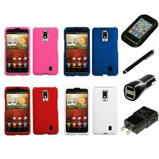 For LG Spectrum VS920 Rigid Plastic Hard Snap-On Case Phone Cover Charger Stylus