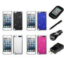 For iPod Touch 5th 6th Gen Executive Hard Case Diamonds Phone Cover Charger