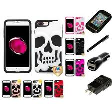 For iPhone 7 Plus [5.5] Hybrid Skull Skeleton Impact Hard Soft Case Charger