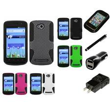 For Coolpad Quattro 4G 5860E Hybrid Rugged Impact Hard Soft Case Charger Stylus