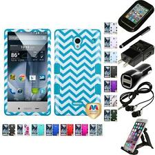 For Sharp Aquos Crystal Hybrid TUFF IMPACT Case Hard Cover Accessories