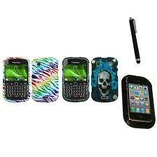 For BlackBerry Bold Touch 9900 9330 Design Snap-On Hard Case Cover Mount+Pen